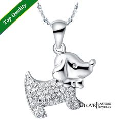 Find More Pendant Necklaces Information about Puppy Necklaces Micro Pave CZ 925 Sterling Silver Romantic Necklaces Valentine's Day Gift 2014 Fashion Necklaces Ulove N591,High Quality necklace soldier,China necklace snake Suppliers, Cheap necklace bust from ULOVE Fashion Jewelry on Aliexpress.com
