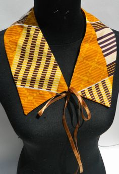 Detachable Collar in African Kente Print by Tayamika on Etsy
