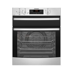The Westinghouse Oven in Stainless Steel boasts a variety of cooking modes, cool door safety feature, easy clean door and a range of timer functions for added flexibility and usefulness. Home Appliance Store, Design Suites, Stainless Steel Oven, Gas Oven, Cool Doors, Electric Oven, Oven Cooking