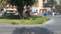La glorieta Lola Torres se convierte en rotonda para agilizar y mejorar el tráfico de este cruce