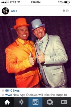Road Dogg and Mr. Ass ~ New Age Outlaws dressed as Dumb & Dumber