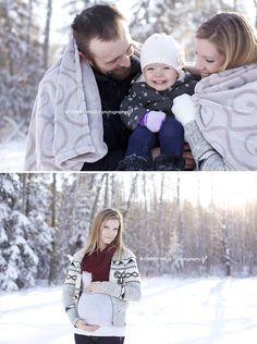 Winter maternity photo.  Edmonton Maternity Photographer | Christy Wells Photography
