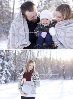Winter maternity photo.  Edmonton Maternity Photographer | Christy Wells Photography