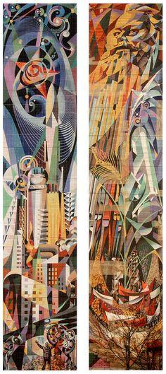 Josep Renau Murals, Halle-Neustadt, Germany