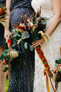 Get ready to see a fab rustic wedding with a major twist today, lovely readers. Vicky and Jesse tied the knot on September 2016 in Pennsylvania. Pagan Wedding, Autumn Wedding, Wedding Bride, Rustic Wedding, Wedding Art, Wedding Ideas, Fall Wedding Dresses, Wedding Bouquets, Grey Sequin Dresses