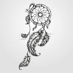 dream catcher: Dreamcatcher, feathers and beads. Native american indian dream catcher, traditional symbol