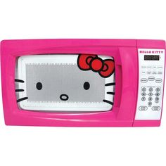 CUTE! But would it last?.... Amazon.com: Hello Kitty 0.7 Cubic Feet 700 Watt Microwave - MW-07009: Kitchen & Dining