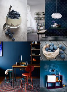 Toilet redeco : Blue indigo trend - blue is generally regarded as a cool colour, but this deep indigo blue adds the most beautiful depth to a room. A wall or two painted in this colour is the perfect backdrop for other colours to stand out. Coral Colour Palette, Colour Schemes, Deeper Shade Of Blue, Wall Colors, Decoration, Color Inspiration, Sweet Home, Mood Indigo, Indigo Blue