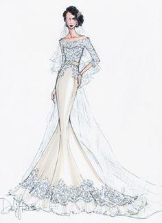 Modern Bridal Sketches