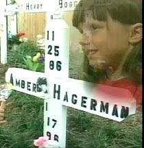 Snatched from her bicycle    On the afternoon of January 13, 1996, Amber Hagerman, 9, and her five-year-old brother, Ricky, pedaled their ...