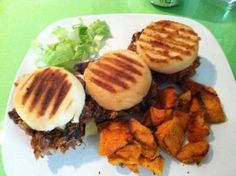 Sliders at Raven Cafe in the Yellowstone Art Museum in Billings, MT.  Delicious fresh food. Read Kat Hobza's blog about it-