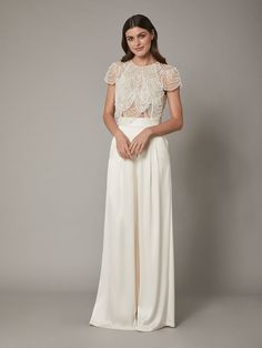 Within the final six months there was huge buzz round wedding ceremony separates—and for good purpos Wedding Dress Separates, 2 Piece Wedding Dress, Lace Wedding Dress With Sleeves, Wedding Skirt, Bridal Separates, Tomboy Wedding Dress, Wedding Crop Top, Lace Sleeves, Civil Wedding Dresses