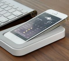 Meet your new sidekick. Saidoka is the ultimate iPhone-charging companion, docked by your side, for full accessibility.
