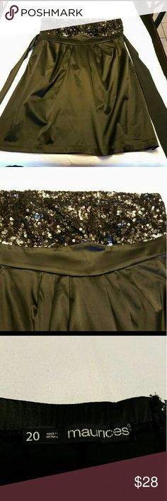 Black strapless satin and sequined dress Stunning black dress.  Satin body with sequined bust Maurices Dresses Strapless