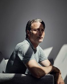 Mads Mikkelsen, danish actor with almost no eyebrows but big charisma!