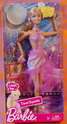 Mattel Barbie I can Be Dance Superstar Doll NIB for sale online Barbie 2000, Barbie I, Barbie And Ken, Barbie Wedding Dress, Wedding Doll, Barbie Doll House, Barbie Toys, Mermaid Barbie, Made To Move Barbie