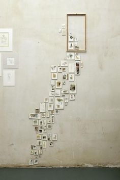 an idea for a narrow wall space (and lots of old photographs)