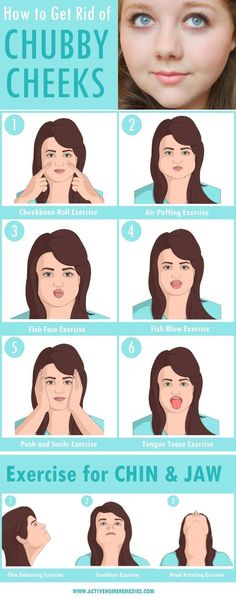 How to Get Rid of Chubby Cheeks & Lose Facial Fat [INFOGRAPHIC]