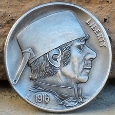 "CHRIS ""DECHRISTO"" DEFLORENTIS HOBO NICKEL - A BOY NAMED SOUS (THE CHEF) - 1916 BUFFALO NICKEL"
