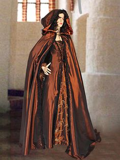 Renaissance Gothic  style Dress Medieval Gown Brown Costume Handmade, Multiple Colors Available Clothing