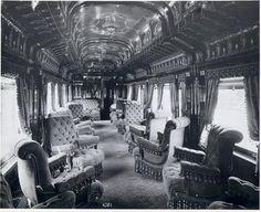 First class train travel, 1886