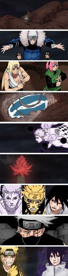 Naruto colored manga chapter