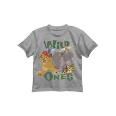 "Disney's The Lion Guard Kion, Bunga & Fuli Boys 4-7 ""Wild Ones"" Tee, Size: 4, Light Grey"
