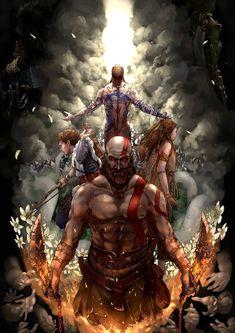 Sameer khan God of war 4 Kratos God Of War, Jeux Nintendo 3ds, God Of War Series, Gaming Wallpapers, Norse Mythology, Manga Pictures, Video Game Art, Fan Art, Mortal Kombat