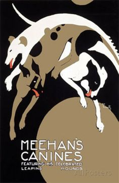 Meehans Leaping Hound Dog Circus Giclee Print by Alfonso Iannelli at AllPosters.com