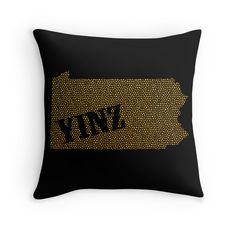 $19 Yinz Speckled Pittsburgh Throw Pillow