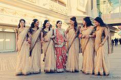 "when i saw this photo it said ""simple bridesmaid outfit"" ok ok ok, noooooooooooooo i have worn this item of clothing and i'm here to tell you it isn't simple Indian Bridesmaid Dresses, Bridesmaid Saree, Bridesmaid Outfit, Wedding Bridesmaids, Indian Bridal Party, Big Indian Wedding, Desi Wedding, Indian Weddings, Foto Wedding"