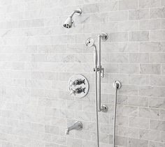 Sussex Thermostatic Handheld Shower & Tub Set #potterybarn