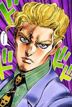 Yoshikage Kira in Diamond is Unbreakable by Hirohiko Araki