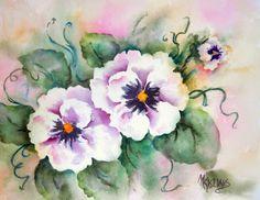 SUMMER PANSIES by Watercolor Artist Martha Kisling