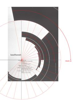 Analysis of Müller-Brockmann's Beethoven Poster by Kimberly Elam, via Behance