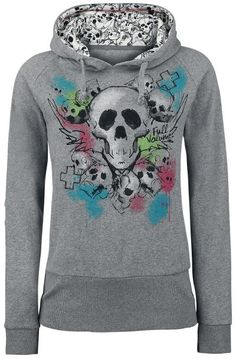 Blur Of Colour Skull sweatshirt by Full Volume ~ EMP