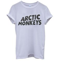 Arctic Monkeys Rock Music Band Hipster Cool Unisex Men Women Top... ❤ liked on Polyvore featuring men's fashion, men's clothing, men's shirts, men's t-shirts, tops, shirts, t-shirts, tees, mens t shirts and mens shirts