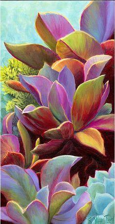 Pastel plants.