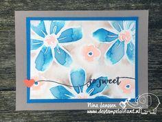 So Sweet… met tutorial – Garden in Bloom Stampin'Up!-  De Stempelolifant