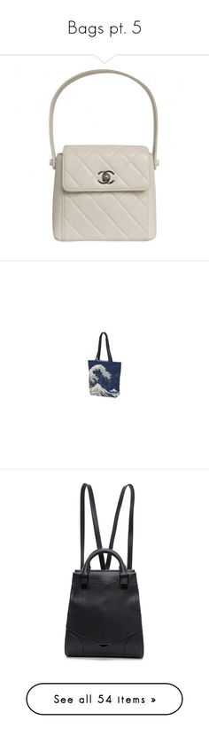 """""""Bags pt. 5"""" by waterflower ❤ liked on Polyvore featuring bags, handbags, quilted handbags, mini bag, clasp purse, hologram handbag, white handbag, tote bags, handbags totes and blue tote"""