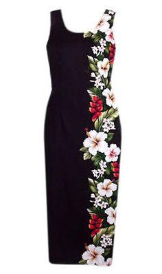 long tank hawaiian paradise ebony dress