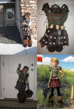"""Astrid Costume from """"How to train your Dragon"""" for Halloween 2010"""