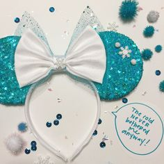 Elsa/Frozen inspired sequined mouse ears by ShopHouseOfMouse