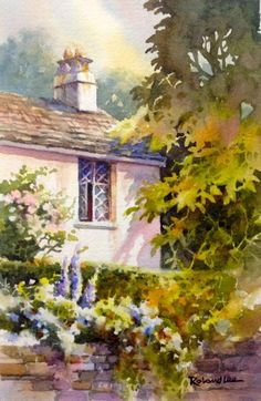 1000 images about artist roland lee on pinterest for Watercolor cottages