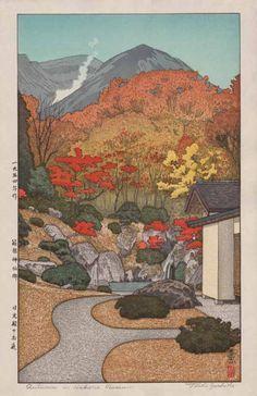 Toshi Yoshida - L'automne au musée d'Hakone