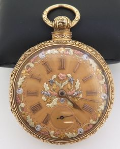 RARE 1800s Litherland Davies Liverpool 18k Three colour solid gold pocket watch #WALTHAM