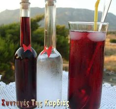 Greek Recipes, Cakes And More, Food Processor Recipes, Smoothies, Drinking, Alcoholic Drinks, Favorite Recipes, Homemade, Bottle