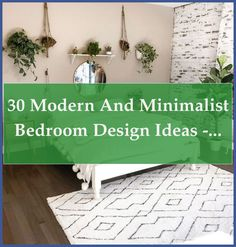 The minimalist style-defined by lines that are clean, a neutral palette, and a stripped down simplicity-goes hand in hand with establishing a serene a... Modern Minimalist Bedroom, Minimalist Interior, Minimalist Style, Neutral Palette, Fashion Room, Wall Spaces, Wall Colors, Bedroom Decor, Design