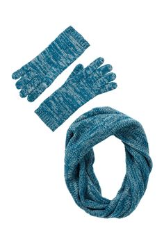 Marled Knit Cashmere Snood and Gloves by 14th & Union on @nordstrom_rack