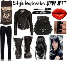 """""""Style Inspiration: Joan Jett"""" by lin-lin78593 on Polyvore"""